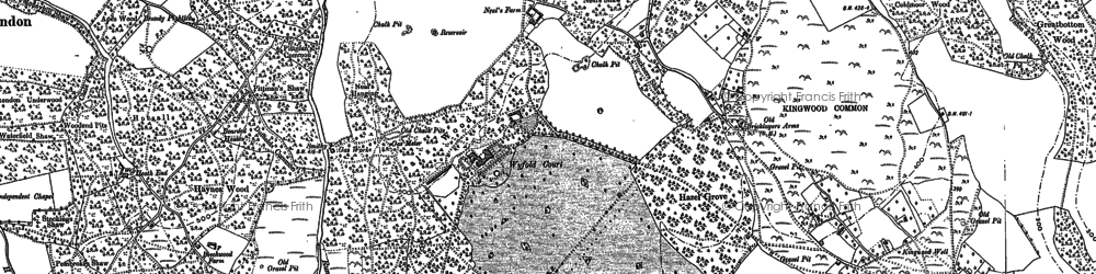 Old map of Kingwood Common in 1897