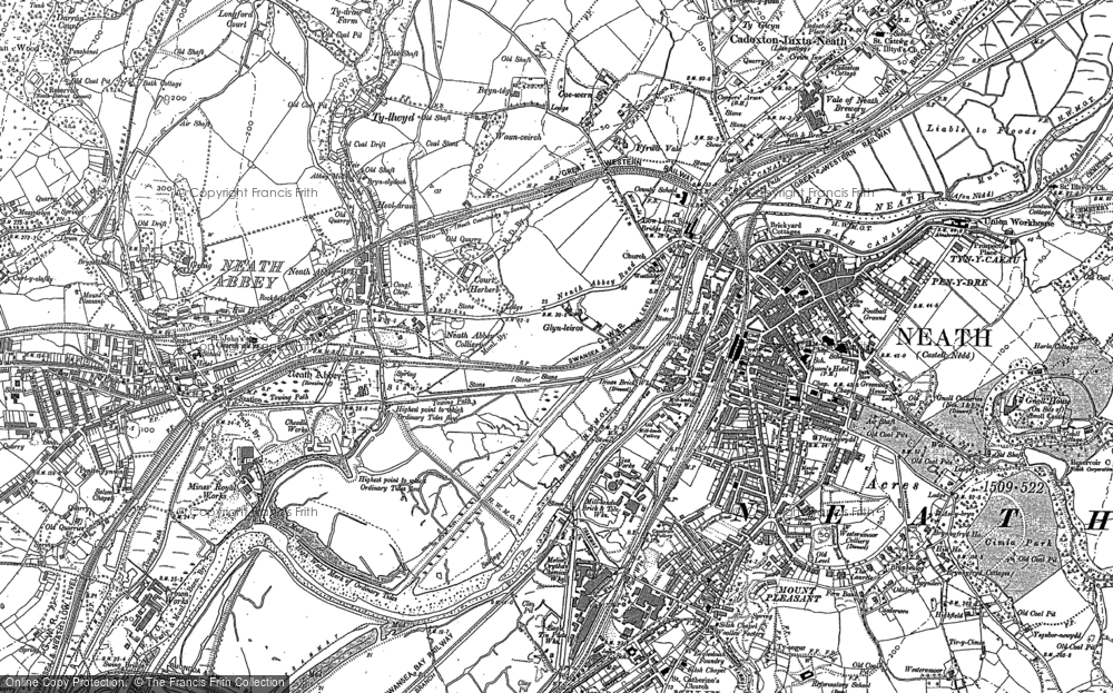 Old Map of Neath, 1897 in 1897