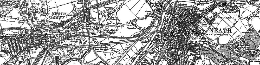 Old map of Neath in 1897
