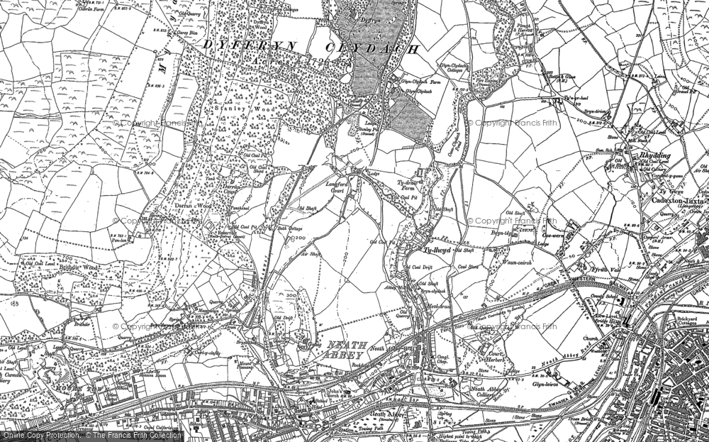 Old Map of Neath Abbey, 1897 in 1897