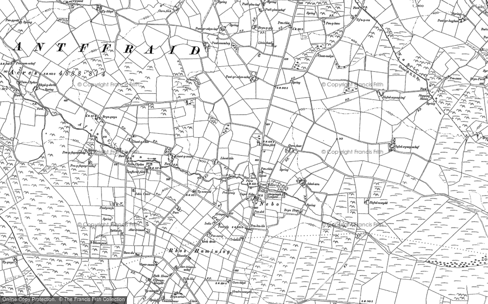 Old Map of Historic Map covering Afon Cledan in 1904