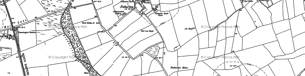 Old map of Westlea in 1896