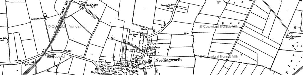 Old map of Needingworth in 1900