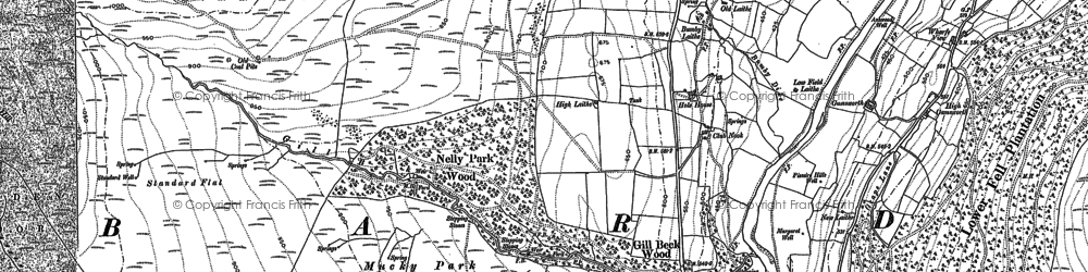 Old map of Barden Scale in 1907