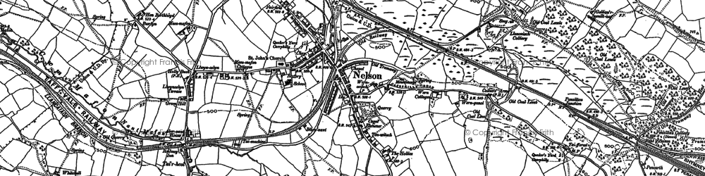 Old map of Nelson in 1898