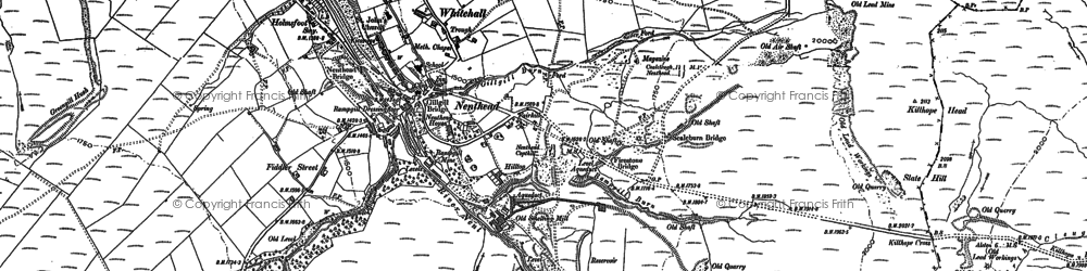 Old map of Nenthead in 1898