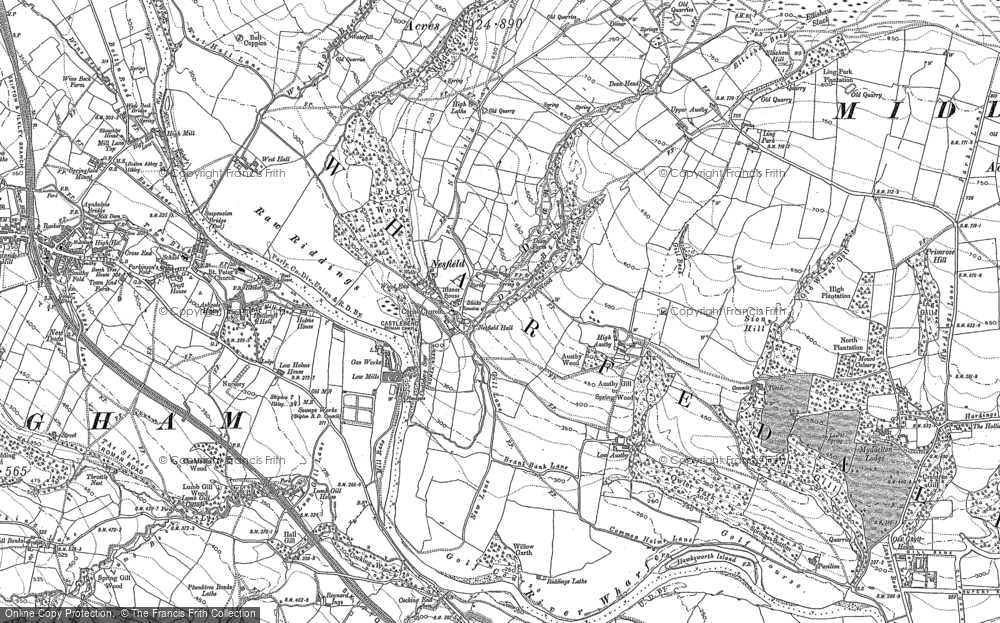 Old Map of Historic Map covering Tivoli in 1907