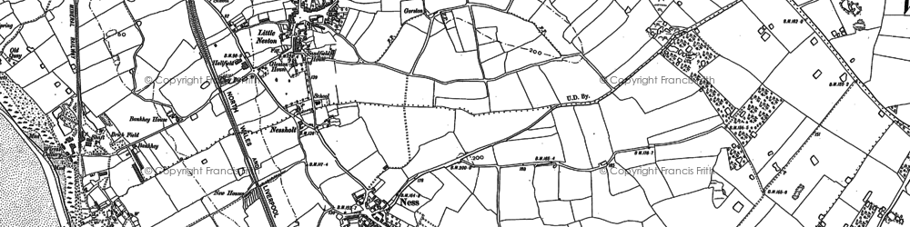 Old map of Windle Hill in 1909