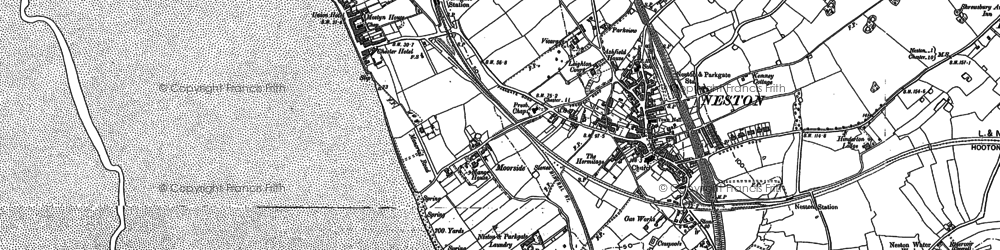 Old map of Neston in 1897