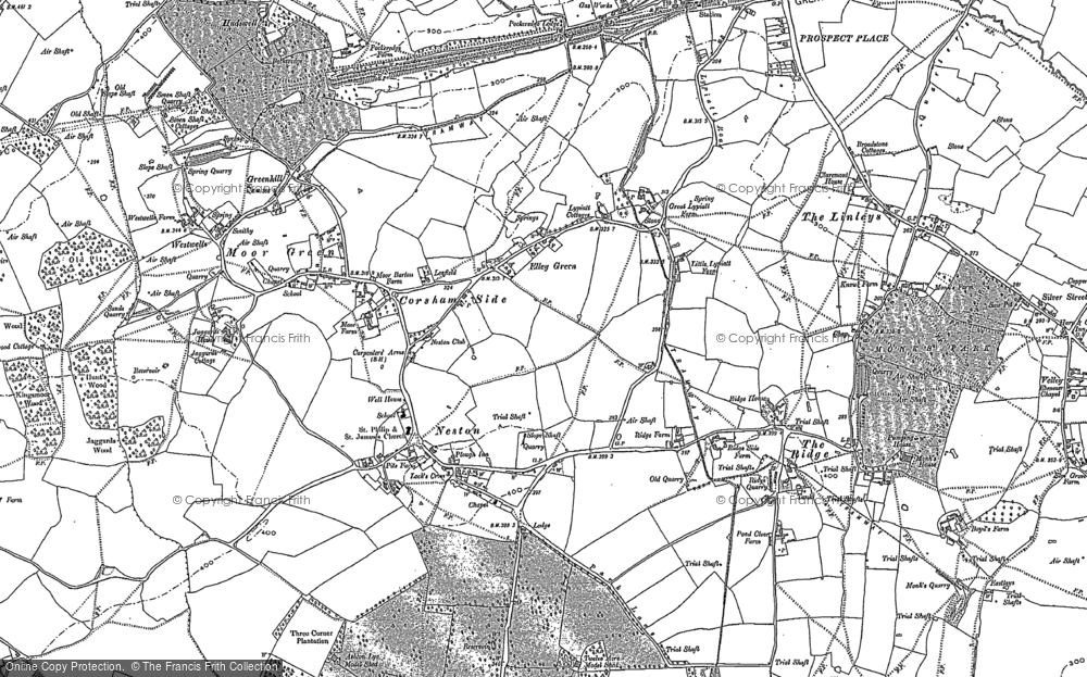 Old Map of Historic Map covering Leafield in 1919