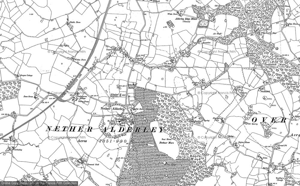 Old Map of Nether Alderley, 1897 in 1897