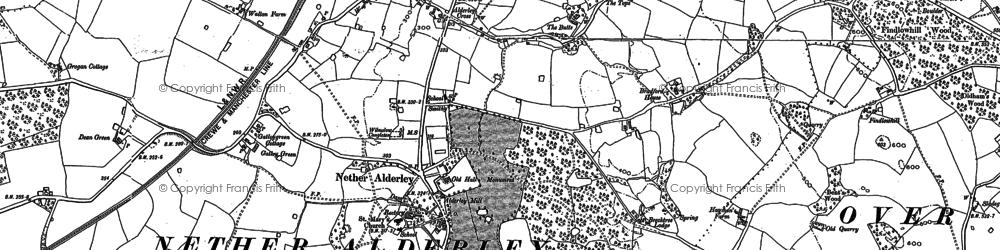 Old map of Nether Alderley in 1897