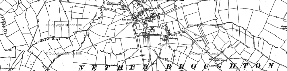 Old map of Queensway Old Dalby in 1883