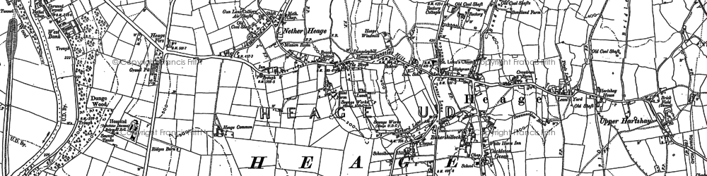 Old map of Toadmoor in 1879