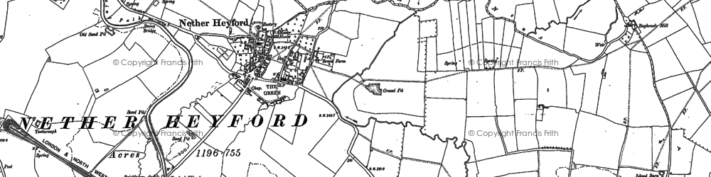 Old map of White Hall in 1883