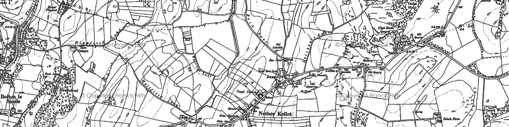 Old map of Laverick Hall in 1910