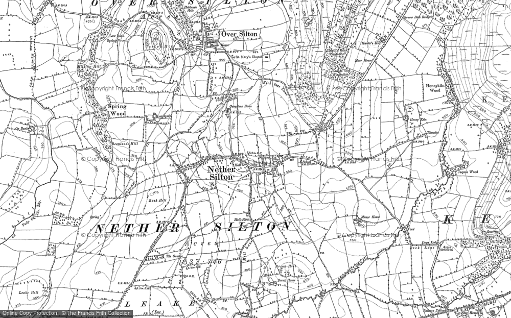 Old Map of Historic Map covering Leake Lane Ho in 1890