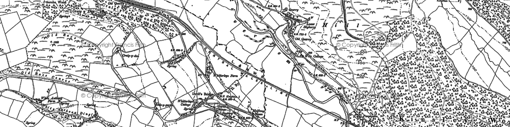 Old map of Whitterleys, The in 1887