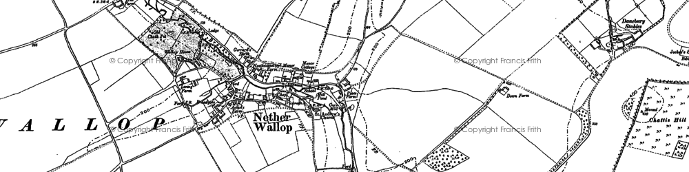 Old map of Nether Wallop in 1894