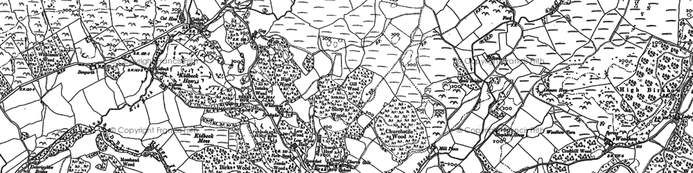 Old map of Yew Tree in 1898