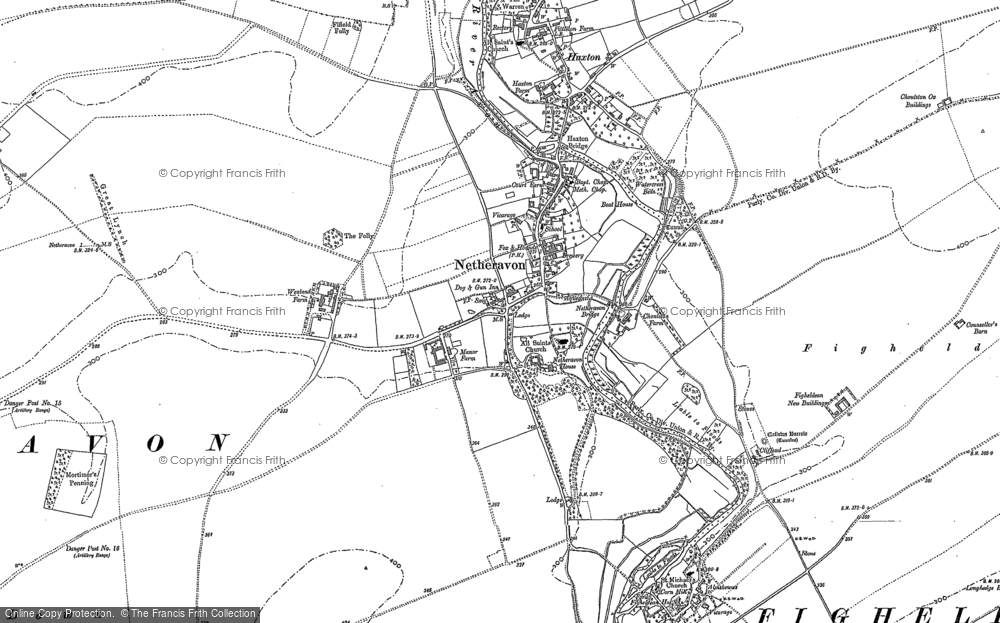 Old Map of Netheravon, 1899 in 1899