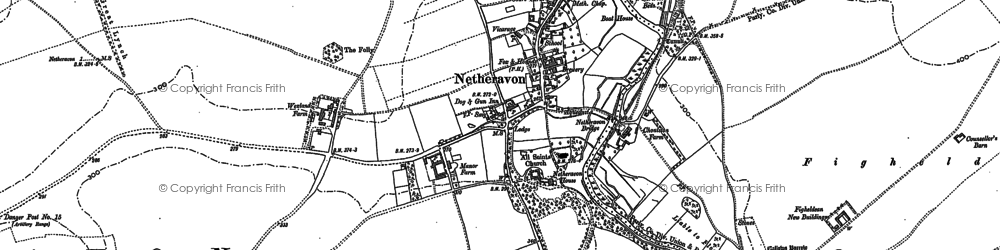 Old map of Netheravon in 1899