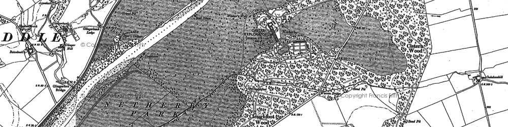 Old map of Todhillwood in 1947