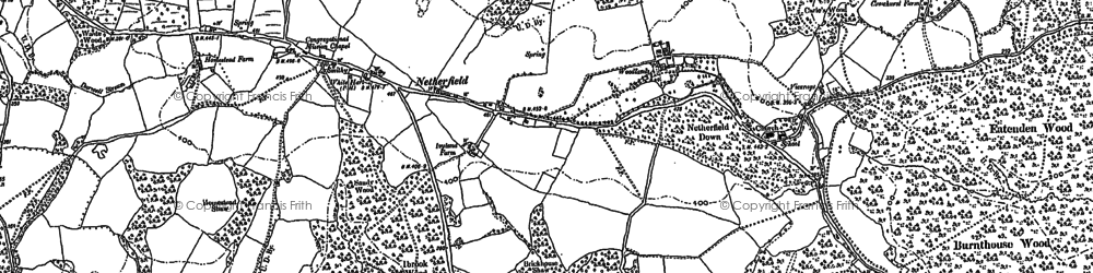 Old map of Ashes Wood in 1897