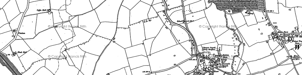 Old map of Wroughton Park in 1924