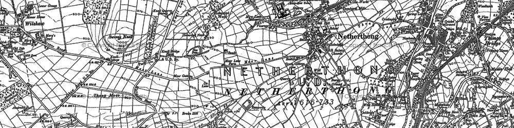 Old map of Wolfstones Height in 1888