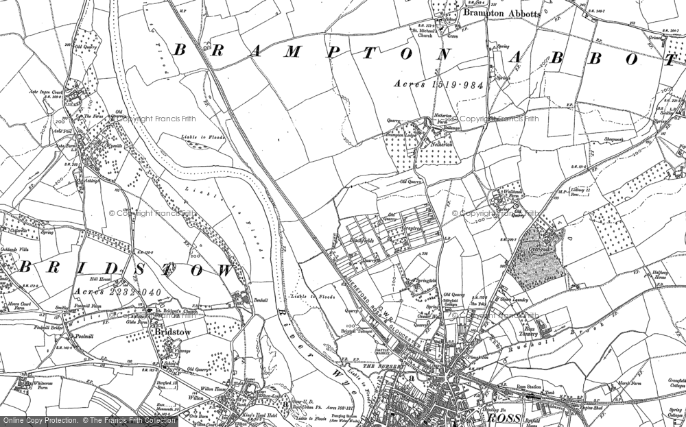 Old Map of Historic Map covering Ashe Ingen Court in 1887