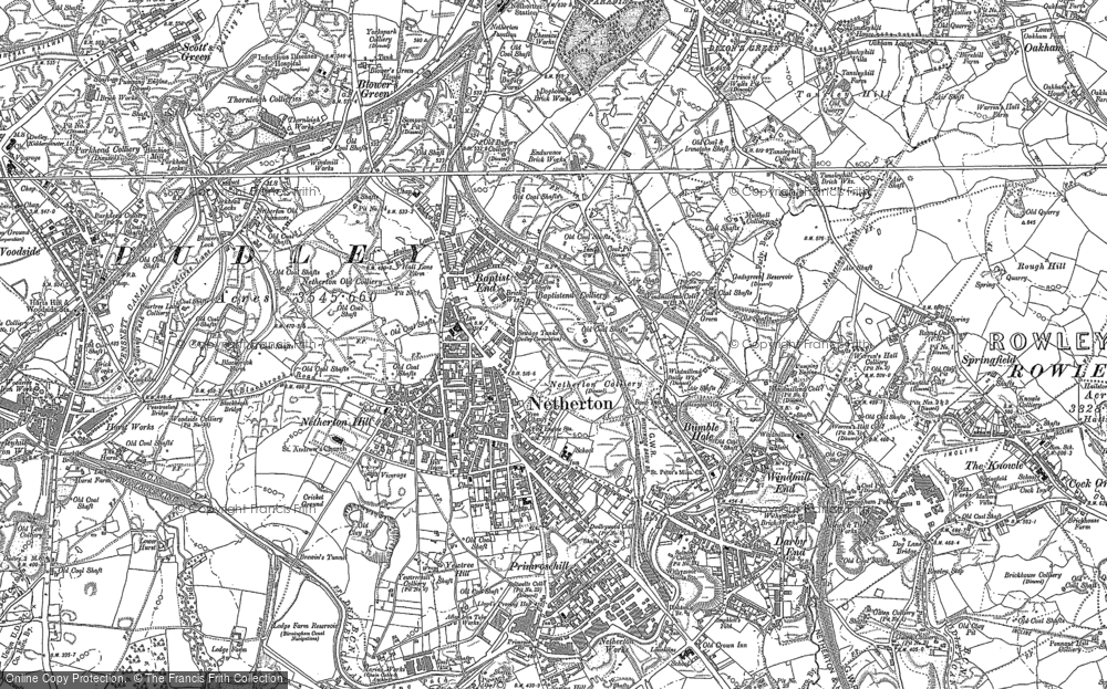 Old Map of Historic Map covering Baptist End in 1901