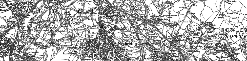 Old map of Baptist End in 1901