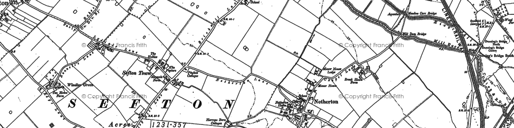 Old map of Aintree Sta in 1906