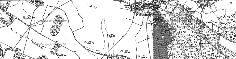 Old map of Nettlebed in 1897