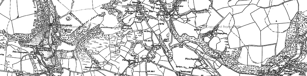 Old map of Nevern in 1888