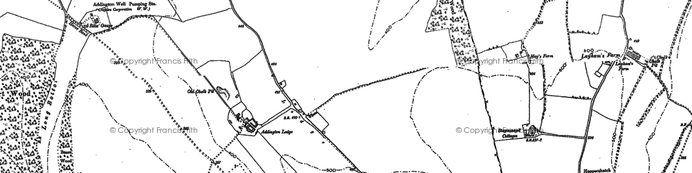 Old map of New Addington in 1907