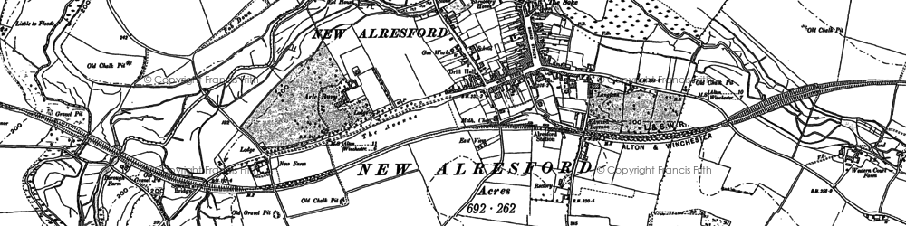 Old map of Tichborne Down in 1895