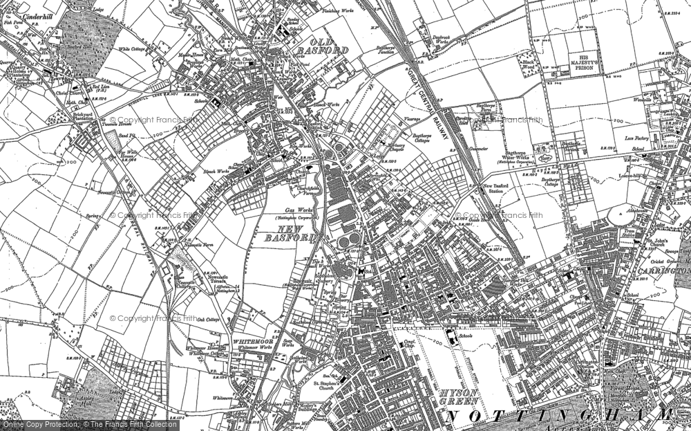 Old Map of New Basford, 1881 in 1881