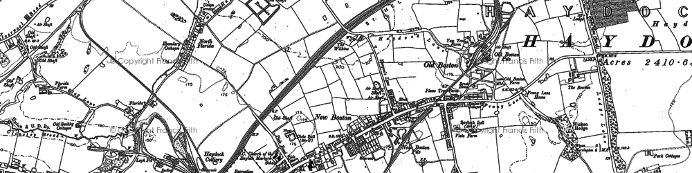 Old map of Tithe Barn Hillock in 1891