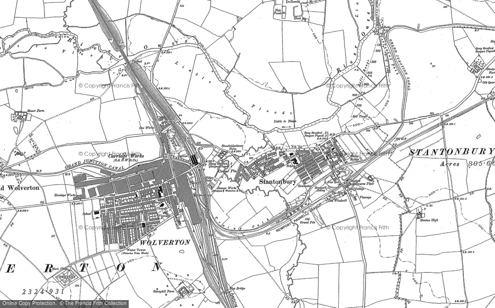 Map of New Bradwell, 1898 - 1924