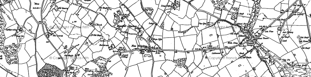 Old map of Laurels, The in 1898