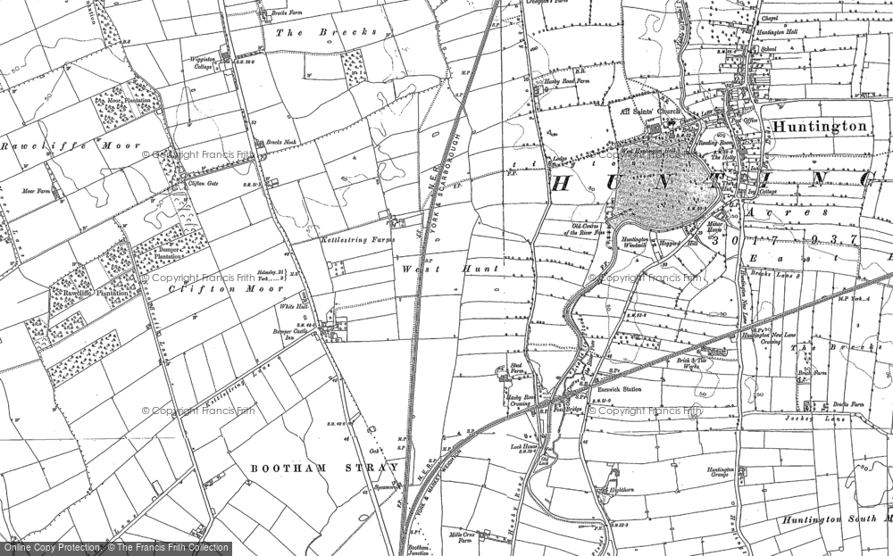 Old Map of New Earswick, 1890 - 1891 in 1890