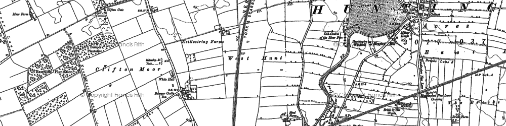 Old map of Wigginton Lodge in 1890
