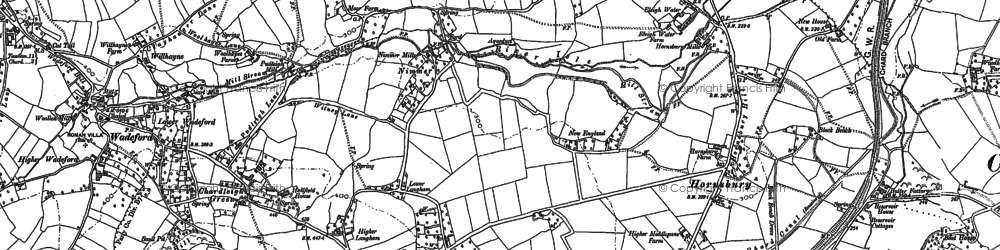Old map of Langham in 1886