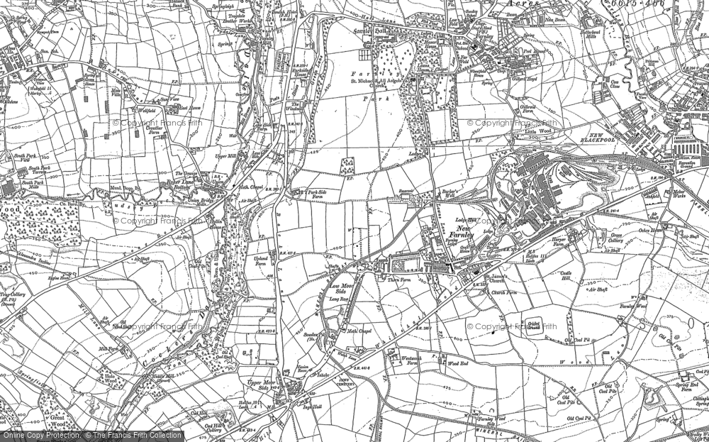 Old Map of New Farnley, 1847 - 1891 in 1847