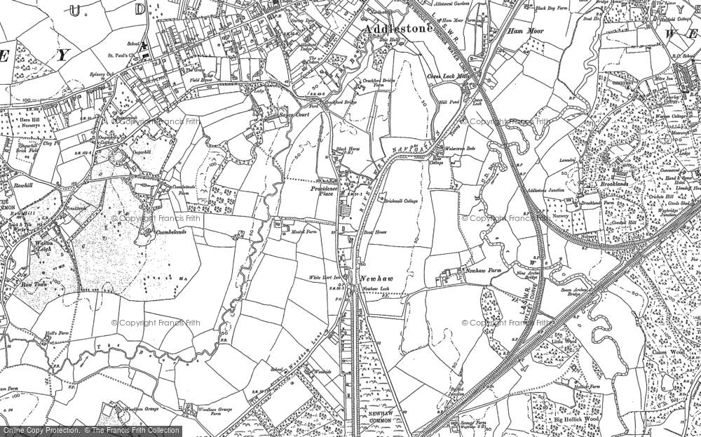Map of New Haw, 1895