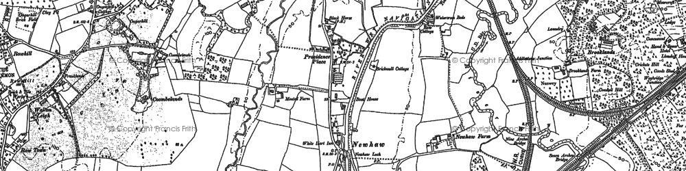 Old map of New Haw in 1895