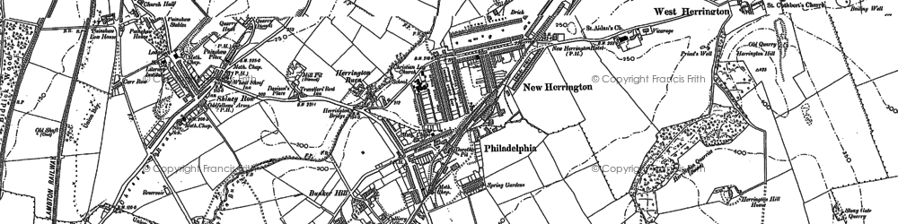Old map of New Herrington in 1895