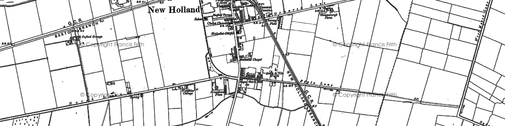 Old map of New Holland in 1886